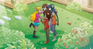 le tea sisters si abbracciano nel giardino di topford