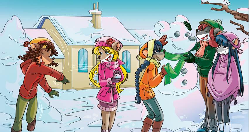 Tea Sisters e pupazzo di neve