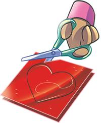 ritaglio sagoma cuore