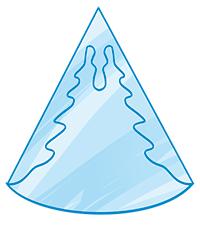 tracce cristallo di neve