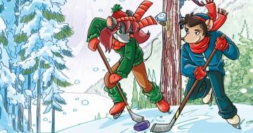 Nicky e Craig giocano a hockey